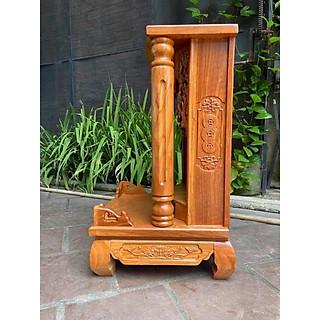 Bàn thờ thần tài gỗ gõ đỏ Cột Trơn 48 x 81cm BTG5081TD - hình 3