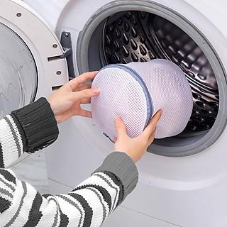 Túi lưới giặt đồ trong máy giặt, 2 lớp, mắt lưới nhỏ cao cấp, bảo vệ quần áo, đồ lót, tất/vớ tránh bị xù lông nhàu nát - hình 4