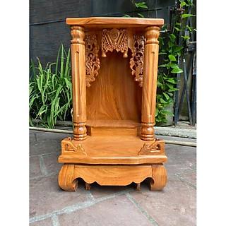 Bàn thờ thần tài gỗ gõ đỏ Cột Trơn 48 x 81cm BTG5081TD