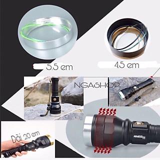 Đèn pin siêu sáng cầm tay đèn led -pro+ - k1 màu đen khích thước dài 20cm - hình 1