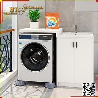 Combo 4 đế chống rung máy giặt + Sét 3 móc dán tường vàng tài lộc HT SYS - hình 2