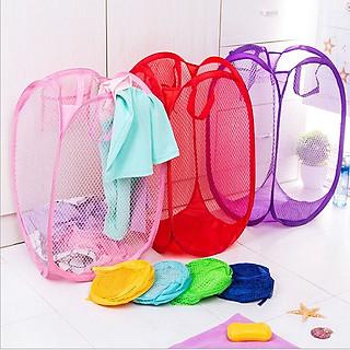 Giỏ lưới đựng quần áo bần hoặc đồ chơi rất đa năng cho gia đình(giao màu ngẫu nhiên) - hình 3