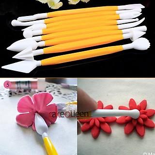 Bộ 8 que tạo hình fondant / dụng cụ tạo hình cánh hoa