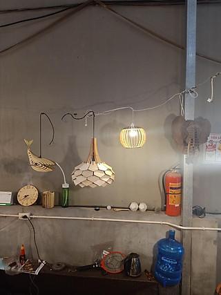 Đèn gỗ diy dáng hoa lài(full bộ) - hình 1
