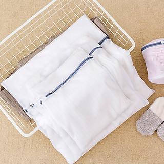 Túi lưới giặt đồ trong máy giặt, 2 lớp, mắt lưới nhỏ cao cấp, bảo vệ quần áo, đồ lót, tất/vớ tránh bị xù lông nhàu nát - hình 3