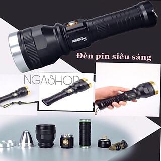 Đèn pin siêu sáng cầm tay đèn led -pro+ - k1 màu đen khích thước dài 20cm - hình 4