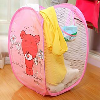 Giỏ lưới đựng quần áo bần hoặc đồ chơi rất đa năng cho gia đình(giao màu ngẫu nhiên) - hình 4