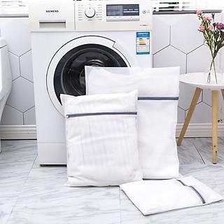 Túi lưới giặt đồ trong máy giặt, 2 lớp, mắt lưới nhỏ cao cấp, bảo vệ quần áo, đồ lót, tất/vớ tránh bị xù lông nhàu nát