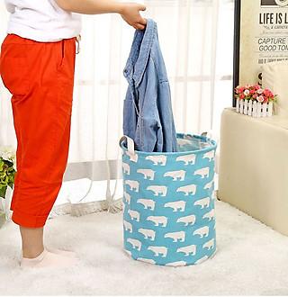 Sọt vải đựng quần áo đồ chơi đồ dùng hình thú xinh xắn - hình 4
