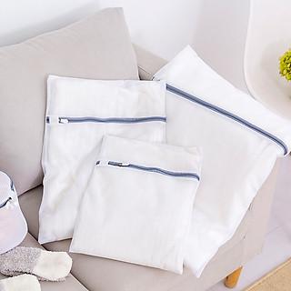 Túi lưới giặt đồ trong máy giặt, 2 lớp, mắt lưới nhỏ cao cấp, bảo vệ quần áo, đồ lót, tất/vớ tránh bị xù lông nhàu nát - hình 2