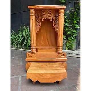 Bàn thờ thần tài gỗ gõ đỏ Cột Trơn 48 x 81cm BTG5081TD - hình 4