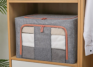 (loại xịn – có chọn size) túi chăn màn khung sắt nhật bản, túi đựng chăn mền quần áo cao cấp chính hãng midoctor – hàng xuất khẩu - hình 3