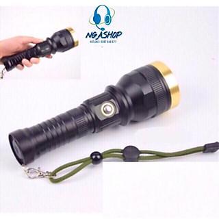 Đèn pin siêu sáng cầm tay đèn led -pro+ - k1 màu đen khích thước dài 20cm