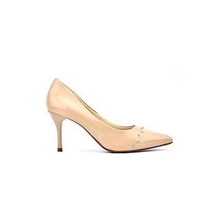 Giày cao gót 8 cm mũi nhọn đính đinh thời trang 2020 thương hiệu PABNO PN448