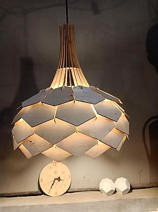 Đèn gỗ diy dáng hoa lài(full bộ)