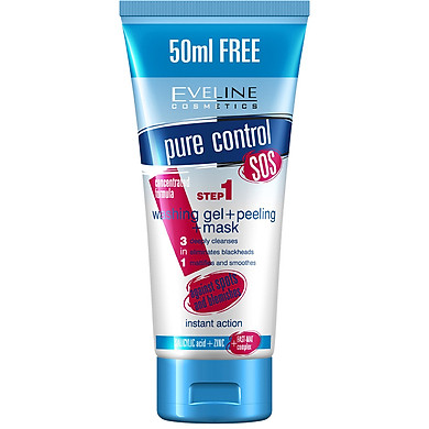 Gel Rửa Mặt Ngăn Ngừa Mụn 3 Trong 1 Eveline Pure Control SOS (200ml)  - EVEL1416