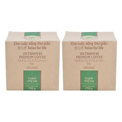 Bộ 2 Túi Cà Phê Organic Hello 5 Coffee (250g/Túi)