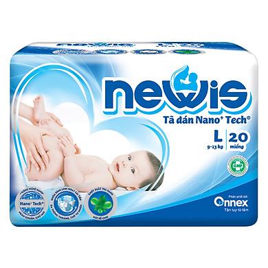 Tã Dán Newis Gói Trung L20 (20 Miếng)