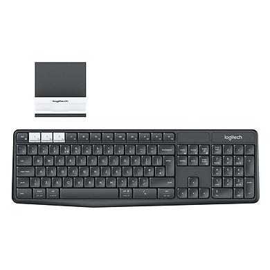 Combo Bàn Phím Bluetooth + Đế Để Điện Thoại Và Tablet Logitech K375s – Hàng Chính Hãng