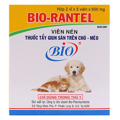 Sổ Giun Chó Mèo Bio (Hộp 10 Viên)