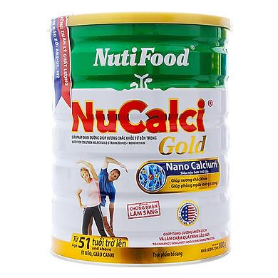 Sữa Bột Nucalci Gold 51 Tuổi Trở Lên (Lon Thiếc 800g)