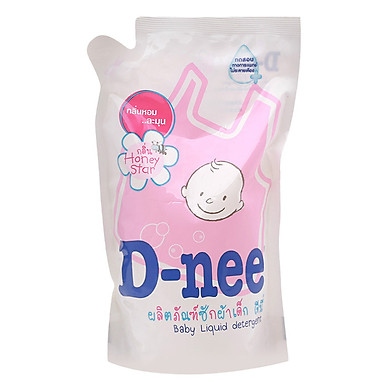 Dung Dịch Giặt Quần Áo Cho Bé D-Nee - Túi 600ml (Hồng)