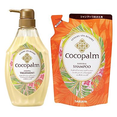 Dầu Xả Cocopalm Chai (600ml) - Tặng Dầu Gội Cocopalm Túi (500ml)