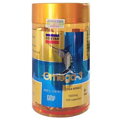 Thực Phẩm Chức Năng Viên Uống Dầu Cá Hồi Costar Omega 3 1000mg - Hộp 100 Viên