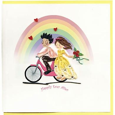 Thiệp Giấy Xoắn Việt Net - Wedding - Happily Ever After Mẫu 2 (15 x 15 cm)