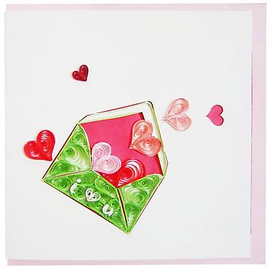 Thiệp Giấy Xoắn Việt Net - Love Valentine - I Love You Mẫu 1