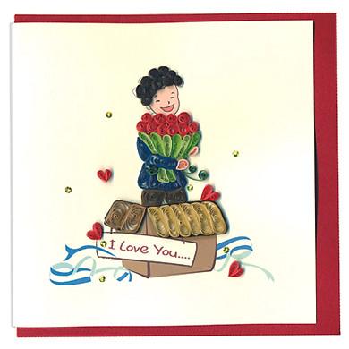Thiệp Giấy Xoắn Việt Net - Love Valentine - I Love You So Much