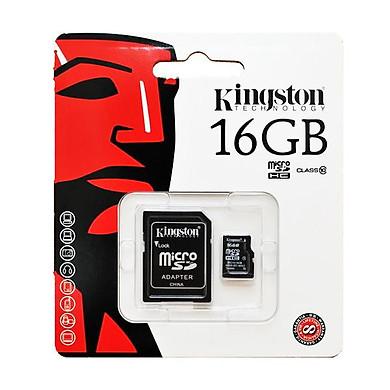 Thẻ Nhớ Micro SDHC Kingston 16GB Class 10 UHS-I SDC10G2/16GBFR (Có Adapter) - Hàng Chính Hãng