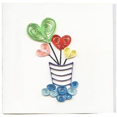 Thiệp Giấy Xoắn Việt Net - Little Hearts (10 x 10 cm)