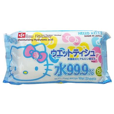 Khăn Ướt Nhật LEC SS237 Hello Kitty (80 Tờ)