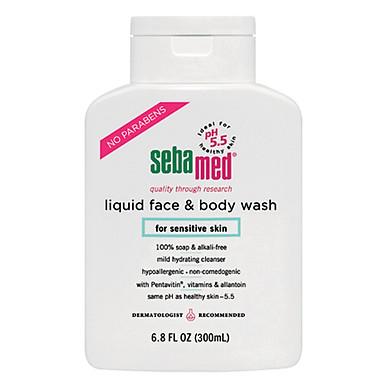 Sữa Rửa Mặt Và Tắm Toàn Thân Cho Da Nhạy Cảm Sebamed Liquid Face & Body Wash SSS01B (300ml)