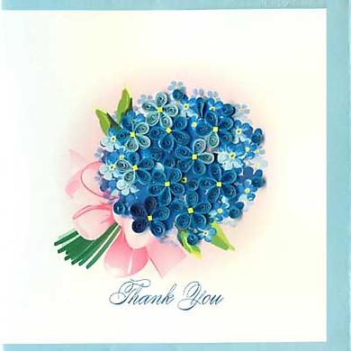 Thiệp Giấy Xoắn Việt Net - Thank You Mẫu 5 (15 x 15 cm)