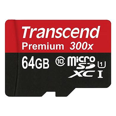 Thẻ Nhớ MicroSD Transcend TS64GUSDU1 64GB Class 10 - Up To 60MB/s - Hàng Chính Hãng