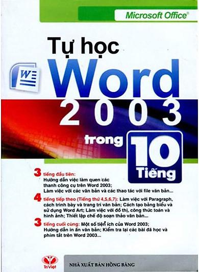 Tự Học Word 2003 Trong 10 Tiếng