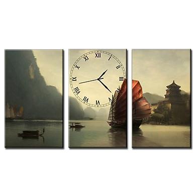 Tranh Đồng Hồ Vicdecor DHT0105 – Thủy Mạc 2