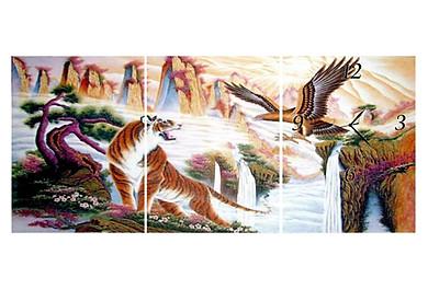 Tranh Đồng Hồ Vicdecor DHT0114 – Anh Hùng Tương Ngộ