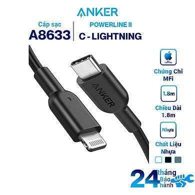 Dây Cáp Sạc USB – Type C To Lightning Chuẩn MFi Cho iPhone PowerLine II 0.9m – A8632 – Hàng Chính Hãng