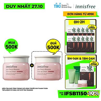 Kem dưỡng ẩm làm sáng chống nắng cho da innisfree Jeju Cherry blossom Tone-up cream SPF30 PA++ 50ml – 131172154