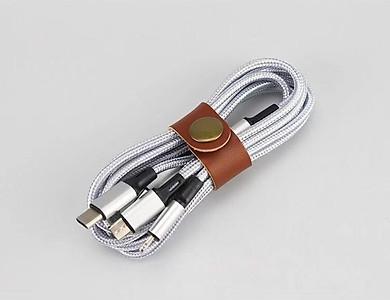 Dây sạc đa năng 3 đầu 3in1 tự ngắt có sạc nhanh Quick charger 3.0 - Hàng Nhập Khẩu