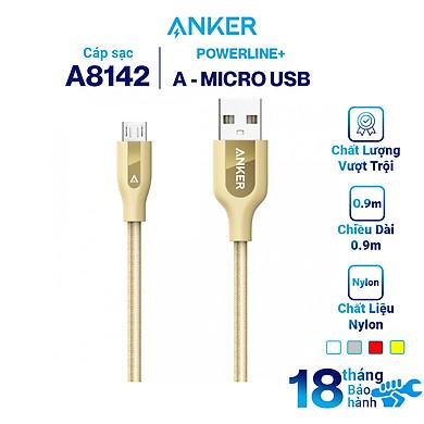 Dây Cáp Sạc Micro USB Anker PowerLine+ 0.9m – A8142 – Hàng Chính Hãng