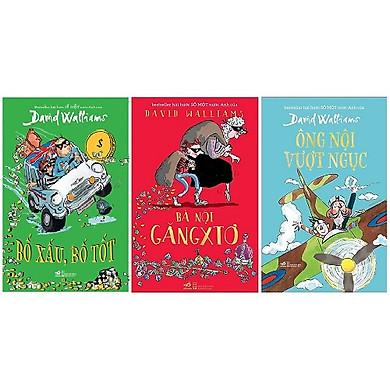 Bộ 3 cuốn tiểu thuyết hài hước dành cho trẻ em của David Walliams: Ông Nội Vượt Ngục - Bà Nội Găngxtơ - Bố Xấu Bố Tốt