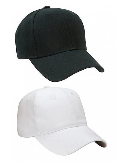 Bộ 2 mũ lưỡi trai cho nam ( đen - trắng)
