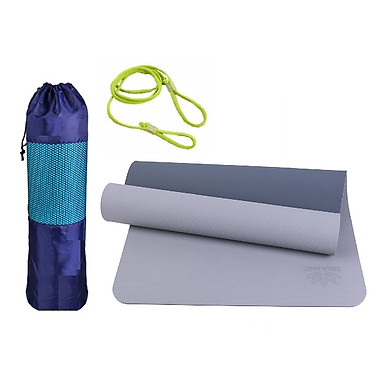 Thảm Tập YoGa, Gym miDoctor + Bao Thảm Tập Yoga + Dây Thảm Tập Yoga (Túi, Dây Giao Màu Ngẫu Nhiên)