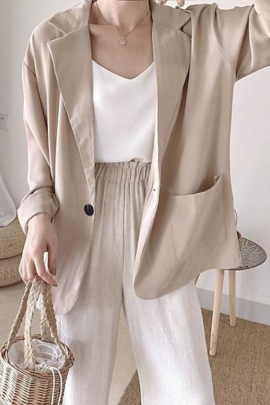 Áo Blazer Khoác Ngoài Dài Tay Nhiều Màu Kiểu Dáng Trẻ Trung – A.016