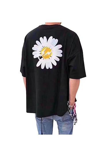 Áo Thun Tay Lỡ Unisex Hình Hoa Cúc Cực Đẹp, Chất Liệu Thun Cotton