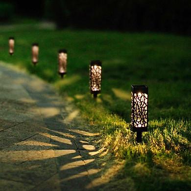 Đèn Năng Lượng Mặt Trời Ngoài Trời Combo 6 cái, Pin: 1xAAA 400mAh , IP44, Công Nghệ Mỹ
